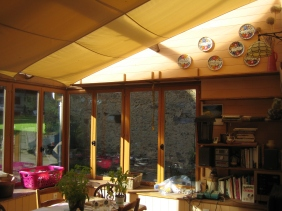 Shade sails were fitted to reduce the glare from the sun.