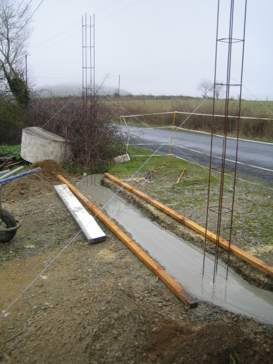 This ensures that the posts can't move independently during frosty conditions, causing problems opening and closing the gates.