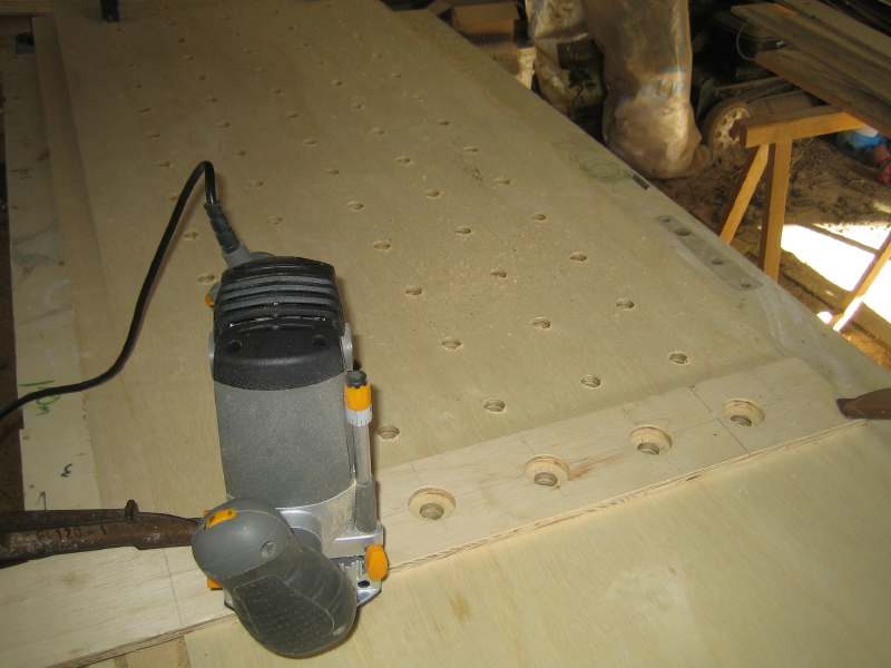 A template simplifies the drilling