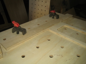 Example of clamps using dog holes
