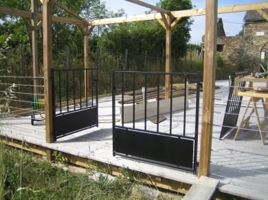 Gates help with security and give access to the Boule Court