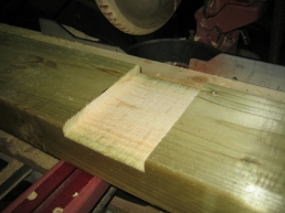 Half Lap Joint For Horizontal Beam