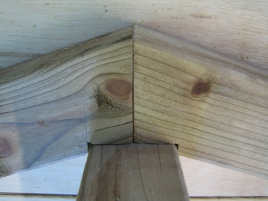 Cutting Bird Mouth joints.