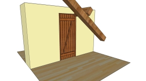 The outwards option, door closed