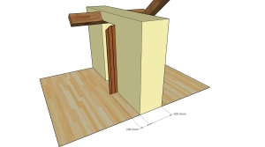 The outwards option, showing how the door protrudes into the outside area