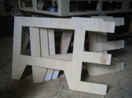 All four legs cut and the edges rounded off.
