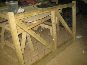 Wire mesh to make it doggie proof