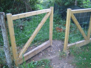 And they even open! Good feature for a gate...